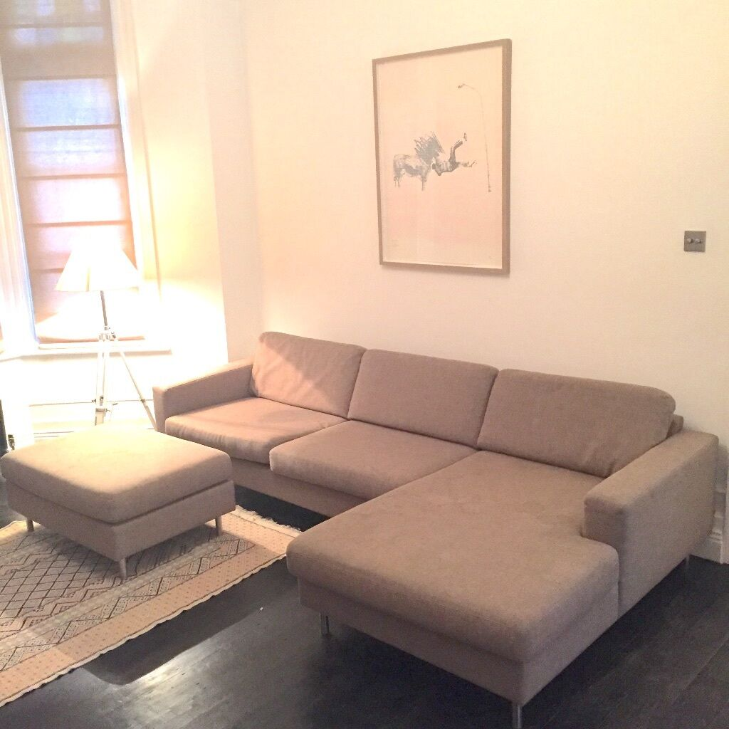 Bolia scandinavia 3 seater sofa with chaise longue right for Bolia sofa