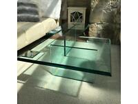 Solid structured glass coffee table from Barker and Stonehouse