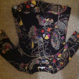 French Connection butterfly blouse size 8