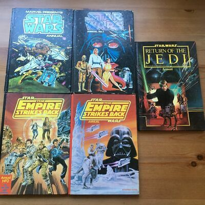 Star Wars Empire Strikes Back Return of Jedi Annual 1978-1983  UK Marvel  x 5
