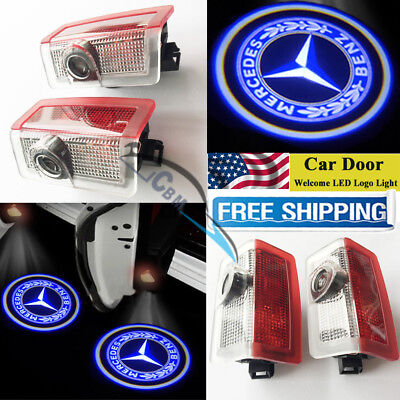 2LED Car Door Projector Logo Ghost Shadow Light For Mercedes-Benz C-class GL550