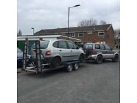 Twin axle trailer 18 ft Car transporter recovery trailer