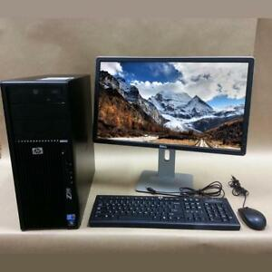 "HP Z-200 Workstation + 24"" Monitor - i5-650/8GB RAM/1TB HDD Complete System + Free Shipping"