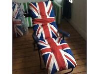 Lovely Union Jack pair of sunloungers worth £100