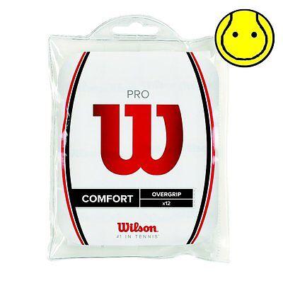 New Wilson Pro Overgrip 12 Pack Tennis Over Grip - Comfort -  White