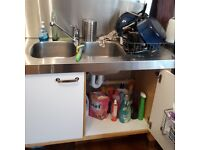 Ikea Varde Kitchen Unit with Sink and Taps