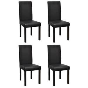 Dining Chairs 4 pcs Black Leatherette 7GP-60586