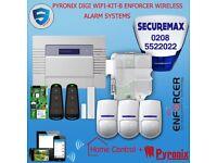 PYRONIX ENFORCER WIRELESS ALARM SYSTEM DIGI WIFI APP KIT-B