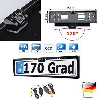 Funk 170° Auto Farb Rückfahr Kamera Car Einparkhilfe Nummernschild Kennzeichen