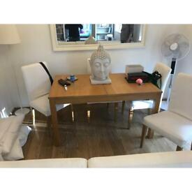 Dinning table 4-6 seater and 4 chairs