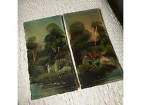 Two Landscape Oil Paintings Early 1900s
