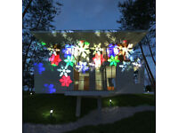 ⭐️MOVING LED SNOWFLAKE HEARTS SPARKLING LASER PROJECTOR LAMP MULTICOLOUR LIGHT⭐️