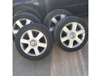 Vw golf mk5 alloys and tyres