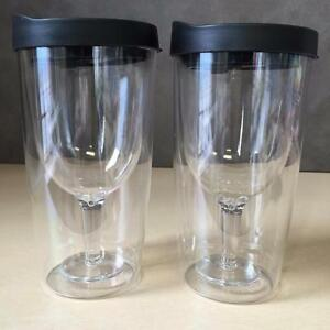 NEW, Winnington 2-Pack Wine Tumblers in Black- 10 oz /295 ml