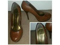 Shoes size 5 brown