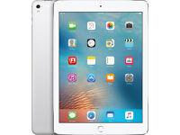 """Apple iPad Pro, A9X, iOS, 9.7"""", Wi-Fi, 128GB, Silver + 3 years Added Care John Lewis + Case"""