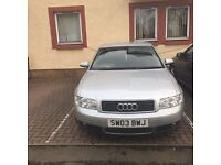 Audi A4 2.0 automatic 03 plate