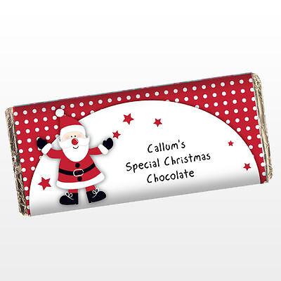 PERSONALISED CHOCOLATE BAR CHILDRENS KIDS Christmas Stocking Filler Gift Idea, ](Halloween Chocolate Ideas)