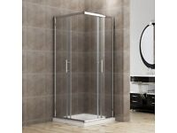 +SALE+ Shower Enclosure 900x900mm Corner Entry complete with Tray and Waste