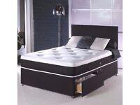 ★★ MEMORY FOAM BED ★★ DOUBLE DIVAN BED BASE WITH MEMORY FOAM ORTHOPEDIC MATTRESS