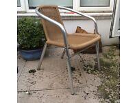 4 stackable outdoor chairs (wicker look)
