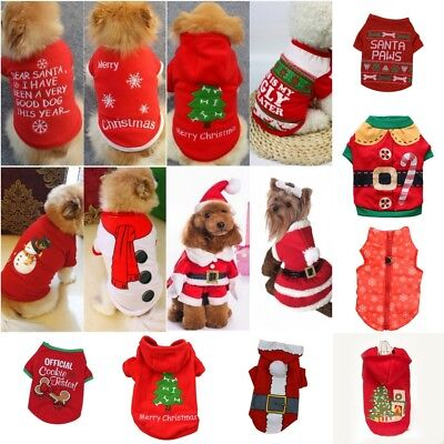 Christmas Pets Puppy Dog Clothes Santa Claus Costume Outwear Xmas Coat Apparel - Santa Claus Coat