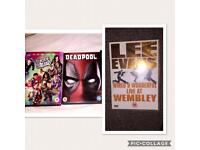 DVD's (lee Evans, suicide squad, deadpool)