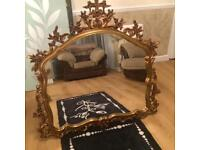 Beautiful Old Gold Ornate Mirror