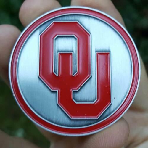 PREMIUM NCAA Oklahoma Sooners Poker Card Guard Chip Protector Golf Marker Coin
