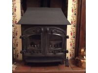 VILLAGER WOOD BURNING STOVE, British Made. In good condition as little used. £250