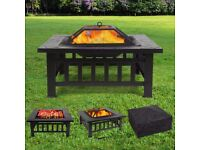 FEMOR Large 3 in 1 Fire Pit with Grill Shelf(NEW)NEVER HAS BEEN USED!!!COMES WITH BOX