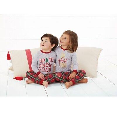 Mud Pie H8 Baby Junge 2-pc Langärmlig Schottenkaro Weihnachten Schlafanzüge