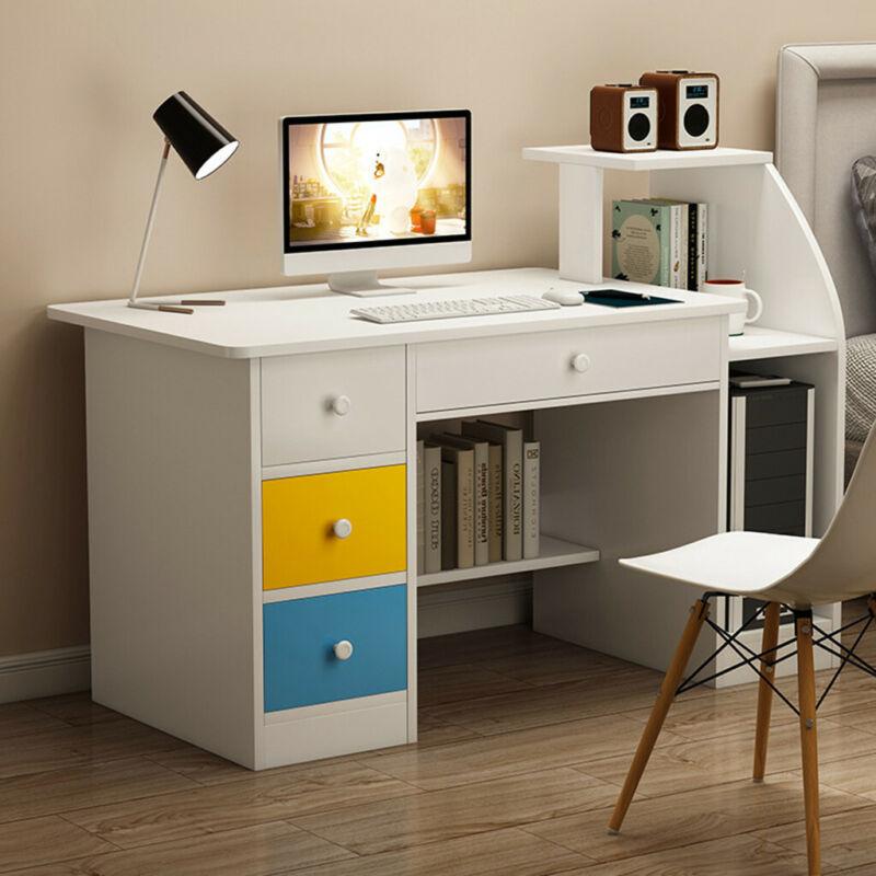Computer Desk With Drawer Shelf Laptop Office Desk Home Mode