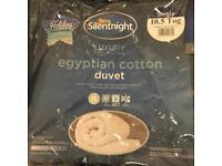 Silentnight single 10.5 tog 100% cotton duvet