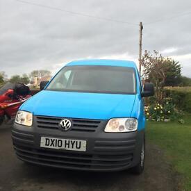 10 Volkswagen caddy 2.0 sdi c20 twin side doors 2 owners 137k miles