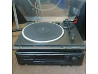 Technics Record Deck, Amplifier and Speakers