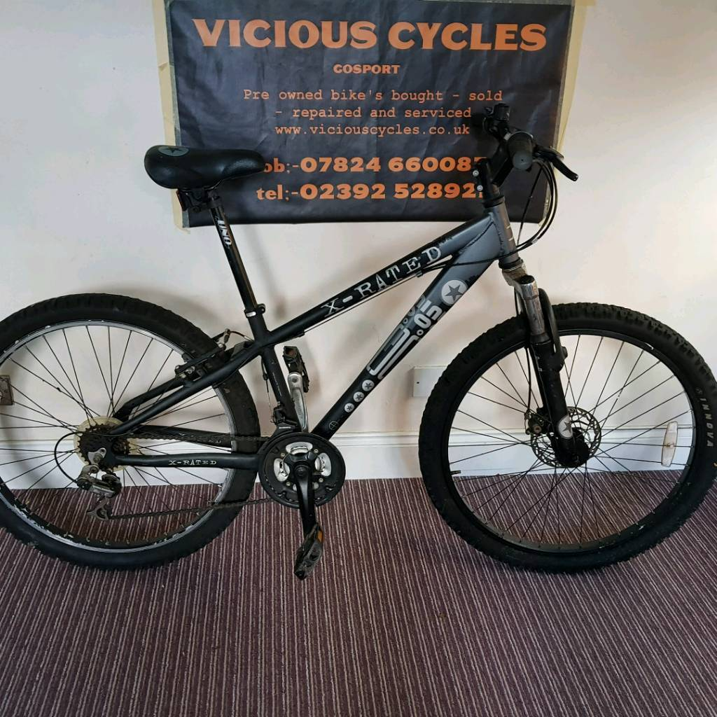 X rated bous mens mtb mountain bike 14 frame 21 speed ready to ride