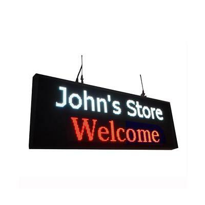 High Brightness 4000nits Led Sign For Store 39x14 P5 Usb Disk Upload