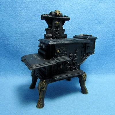 Dollhouse Miniature Antique Kitchen Wood Stove ~ T5931 ()