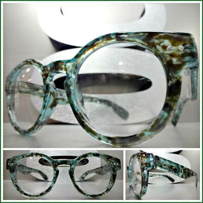 Men CLASSIC RETRO Style Clear Lens EYE GLASSES Rare Green Tortoise Fashion (Tortoise Glasses Men)