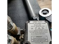 Heavy Duty Brass Shower Pump 3 Bars