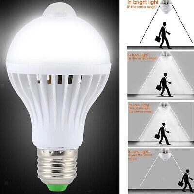 Bombilla de Lámpara Automático Sensor de Movimiento Luz Ahorro Energía E27