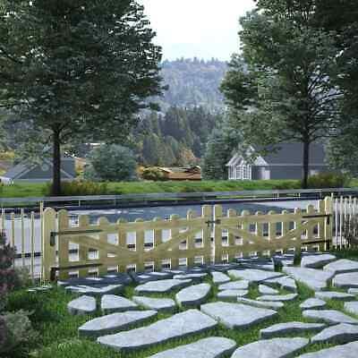 vidaXL 2x Garden Gates Impregnated Pinewood 150x60cm Patio Driveway Door