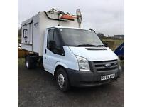 FORD TRANSIT TIPPER BODY WITH KERBSIDE WHEELIE BIN LIFTER