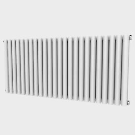 Oval 635mm x 1416mm Double Radiator Horizontal White