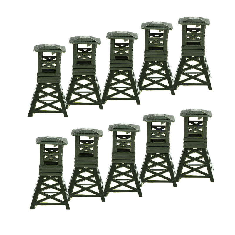 10Pcs+Military+Toy+Soldiers+Watch+Tower+9cm+for+War+Game+Landscape+Building