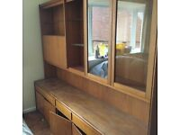Large glass cabinet with lots of storage space *IDEAL FOR DISPLAYING ORNAMENTS* *NEEDS TO GO ASAP*