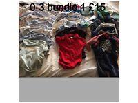 Two 0-3 month boy bundles