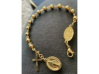 Beautiful Heavy GP Rosary Beads Bracelet, New, 15.57g, CAN POST