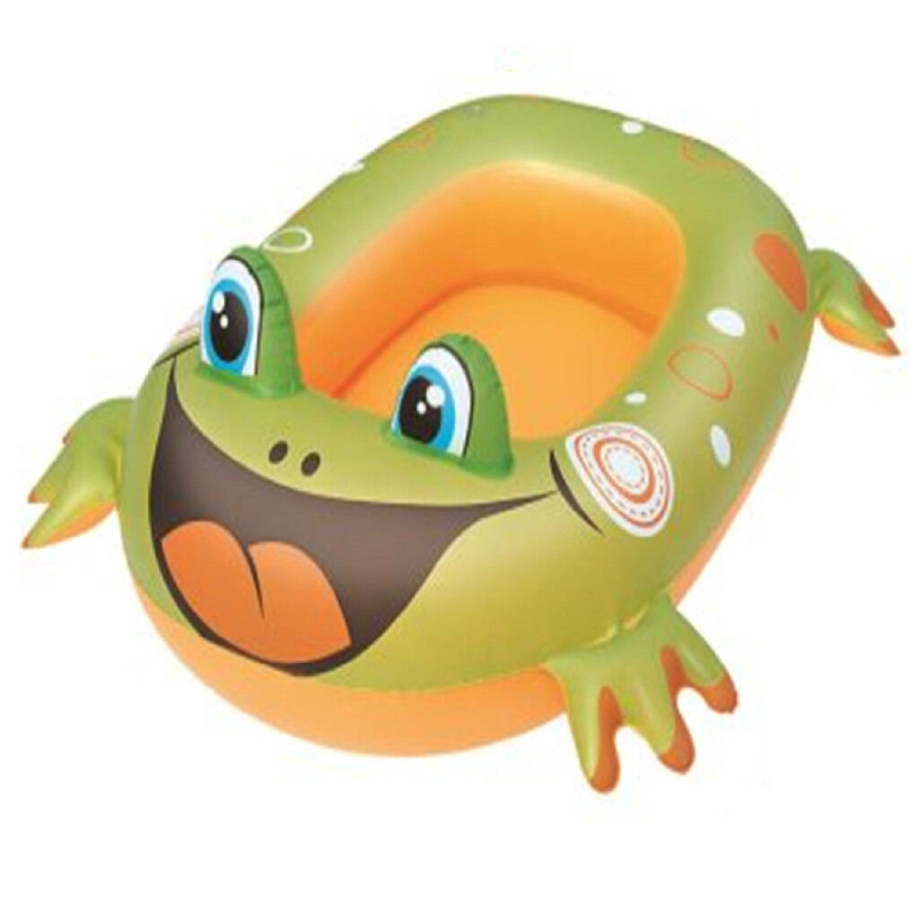 new baby toddler child kids frog inflatable dinghy boat raft new